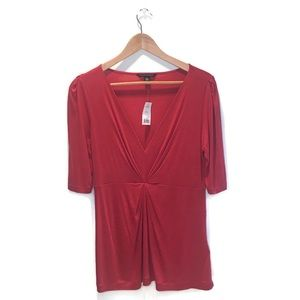 NWT Banana Republic top, red, size M